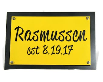 Custom Color Name Address Sign, Customized House Number or Name Sign, Personalized Name Sign, Name and Address Number, Color Address Sign