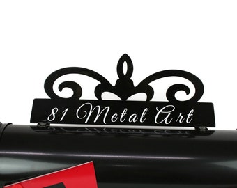 Customized Metal Mailbox Topper, Metal House Number, Mailbox Address, Vinyl Address, Custom Mailbox, Custom Address, Personalized Mailbox