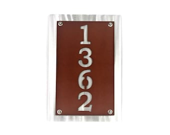 "8x12"" tall Metal House Number Address Sign"