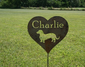Metal Heart Pet Memorial Sign, memorial garden stake, memorial sign, pet memorial, pet grave marker, loss of pet, loss of dog, loss of cat