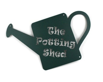 Metal Potting Shed Sign, She Shed Sign, Garden Potting Planting Storage Workshop Greenhouse Sign