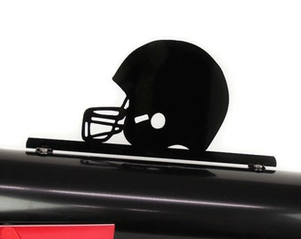 "Football Team Helmet Metal Powder Coated Mailbox Topper -- 6.75"" tall"