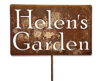 Custom Metal Garden Stake, Gardener Gift, Mom's Garden, Dad's Garden, pet memorial sign, Garden Marker Stake