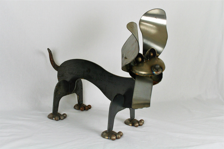 Metal Dachshund, Wiener Dog Statue, dog garden art, dog ...