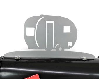 RV Camper Metal Mailbox Topper, Camping Mailbox, Camper Mailbox Top, Camping Gift, RV Sign, RV Mailbox, Camping Sign, Vintage Camper