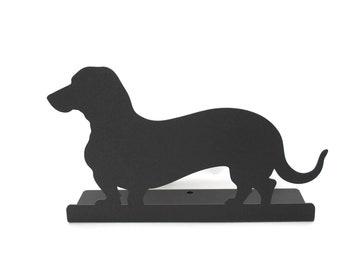 "Magnetic Steel Standing Wiener Dog Dachshund Sign -- 10.75"" wide"