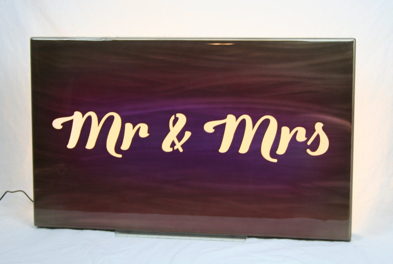 Mr & Mrs backlit sign, wall light, mr and mrs sign, led lighting