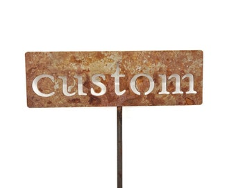 Classic Metal Garden Markers NEW CROPS -- Made to Order