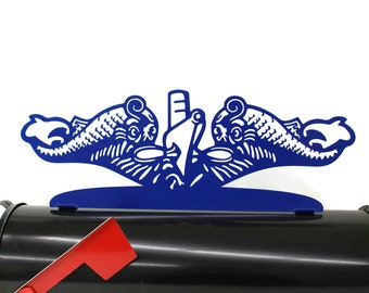 US Navy Submarine Sub Dolphins Service Pin Steel Powder Coated Mailbox Topper
