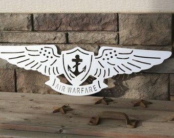 US Navy Aviation Pin -- brushed stainless finish, SCRATCH & DENT