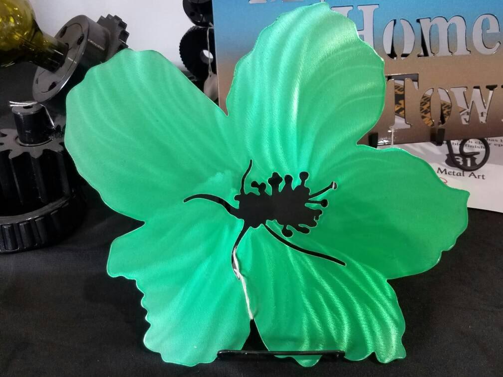 Metallic Hibiscus Flowers, Aluminum Flowers, Tropical Flowers ...