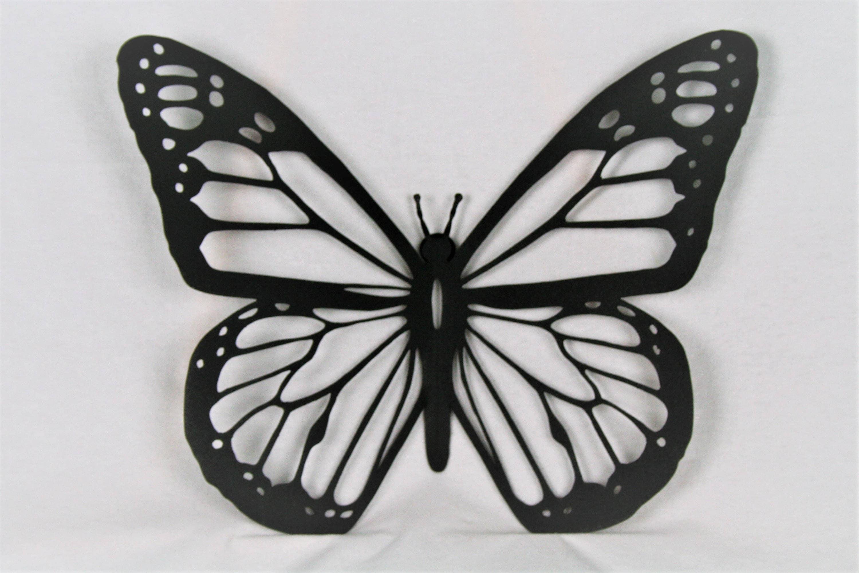 metal butterfly wall art Black Metal Monarch, Butterfly Wall Art, metal butterfly, monarch  metal butterfly wall art