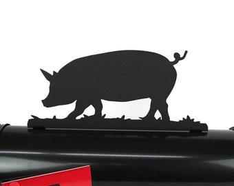 Pig Mailbox Topper, Metal Hog Mailbox Topper, Swine Mailbox, Farmhouse Mailbox Topper, Farm sign, Pig farm sign, Hog farmer gift, Hogs