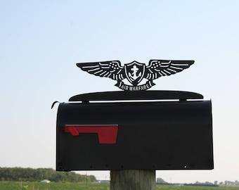 US Navy Air Warfare Mailbox Topper, Aviation Pin, Navy Sailor, US Navy Mailbox, Air Warfare Pin, Navy gift, Aviation Mailbox, EAWS pin