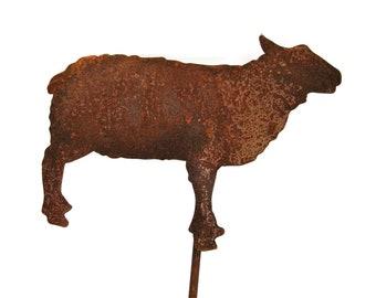 Metal Sheep Stake, Sheep Yard Sign, garden marker, lamb yard sign
