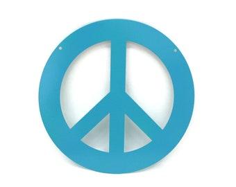 Metal Peace Sign Garden Sign, peace hanging sign, peace symbol