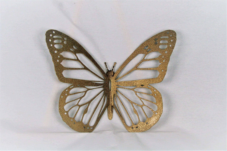 metal butterfly wall art Gold Monarch Butterfly Wall Art, metal butterfly, monarch wall art  metal butterfly wall art