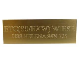 "Brass Plaque ADD-ON Item, Trophy Plaque, 1x3"" Brass Plate, Engraved Brass Plate, Customized Brass Plate"