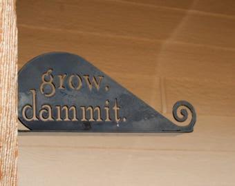 grow dammit garden hook, wind sock hook, grow dammit, wind chimes hook, wind spinner, shepherd hook, hanging basket, wind chime hanger, hook