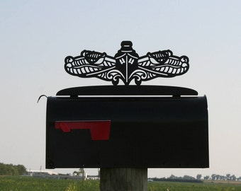 US Navy Surface Warfare Mailbox Topper, Surface Pin, Surface Ship, Navy Sailor, sailor gift, US Navy Mailbox, Surface Sailor, Sailor Mailbox