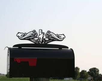US Navy Submarine Dolphins Mailbox Topper, Sub Dolphins, SS Pin, Submarine Service Pin, Bubblehead, Submarine Mailbox, US Navy Mailbox