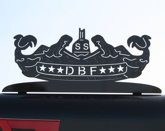 Diesel Boats Forever Mailbox Topper, DBF Pin, Navy Sailor, sailor gift, US Navy Mailbox, Diesel boat, pig boat, Navy gift, dbf pride