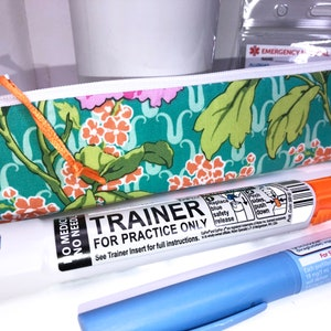Auto Injector Zipper Pouch Insulated Diabetes Supply Bag ZEBRA Single EpiPen Case