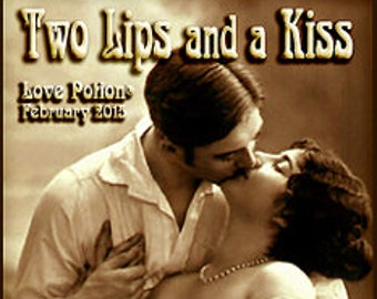 Two Lips and a Kiss - Handcrafted Fragrance for Women - Valentine 2015 - Love Potion Magickal Perfumerie