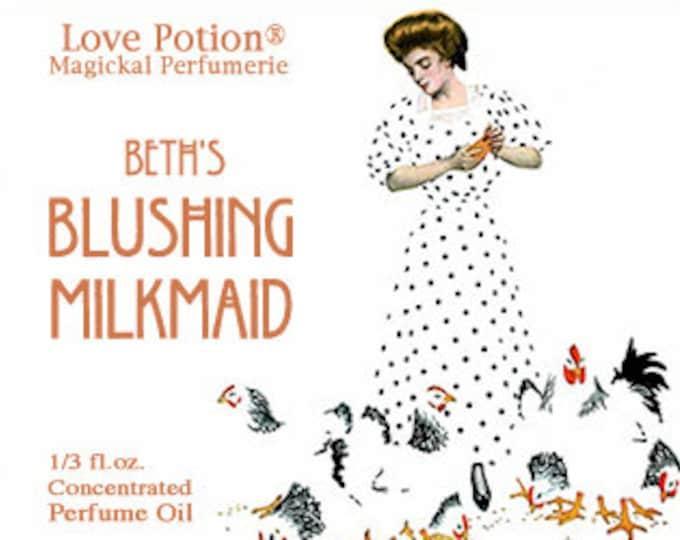 Beth's Blushing Milkmaid w/ EoW Copulins - for Women - Pheromone Enhanced Perfume - Love Potion Magickal Perfumerie