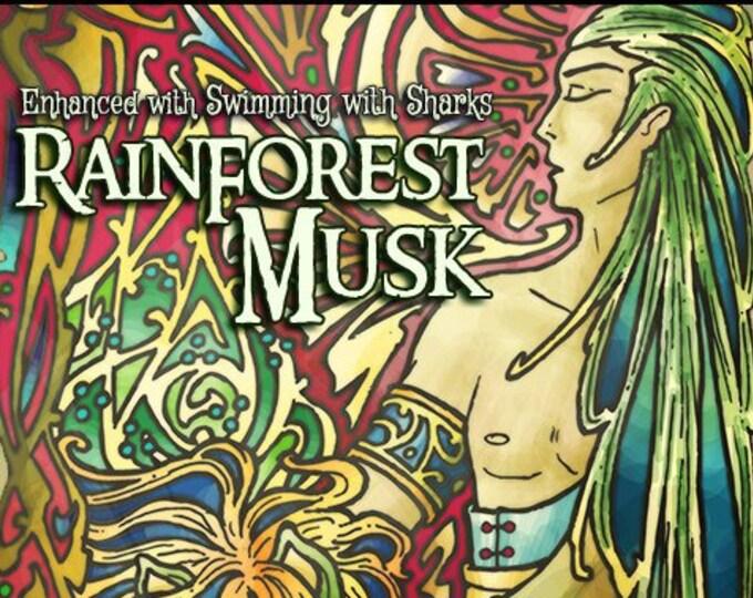 Rainforest Musk w/ Hedione & Swimming with Sharks - Pheromone Enhanced Unisex Fragrance - Love Potion Magickal Perfumerie - Pherotine 2019
