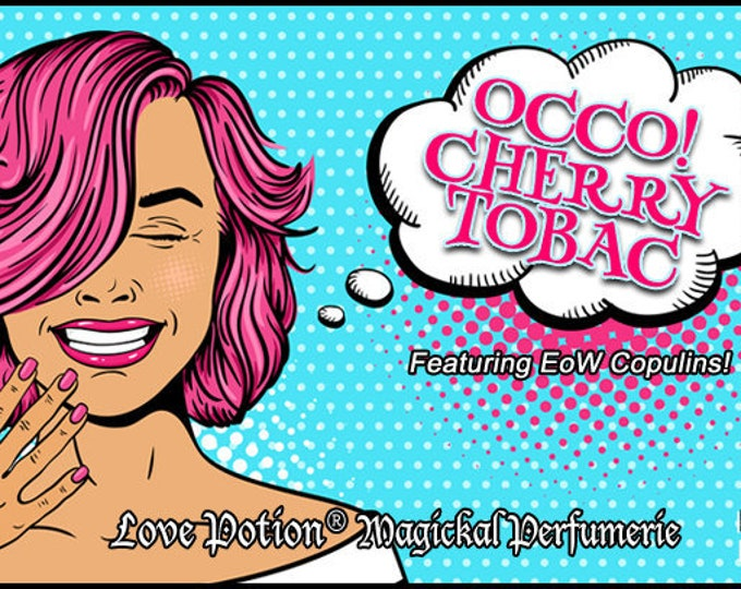 OCCO: Cherry Tobac w/Copulins - LIMITED EDITION! - Pheromone Enhanced Perfume for Women - Love Potion Magickal Perfumerie