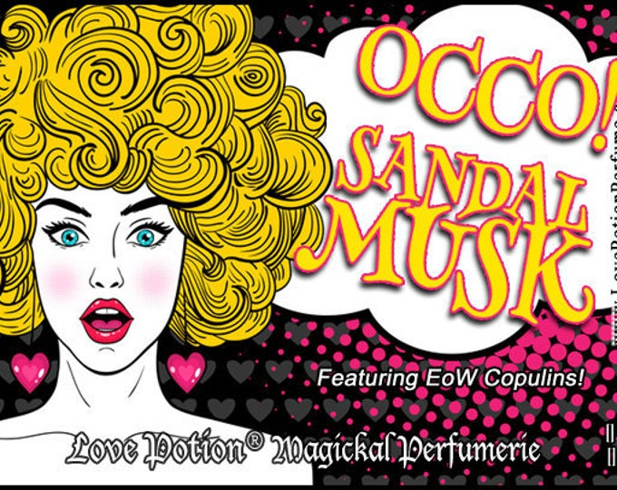 OCCO: Sandal Musk w/Copulins - LIMITED EDITION! - Pheromone Enhanced Perfume for Women - Love Potion Magickal Perfumerie