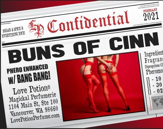 Buns of Cinn w/ Bang, Bang! ~ Pherotine 2021 ~ Phero Enhanced Fragrance for Women - Love Potion Magickal Perfumerie