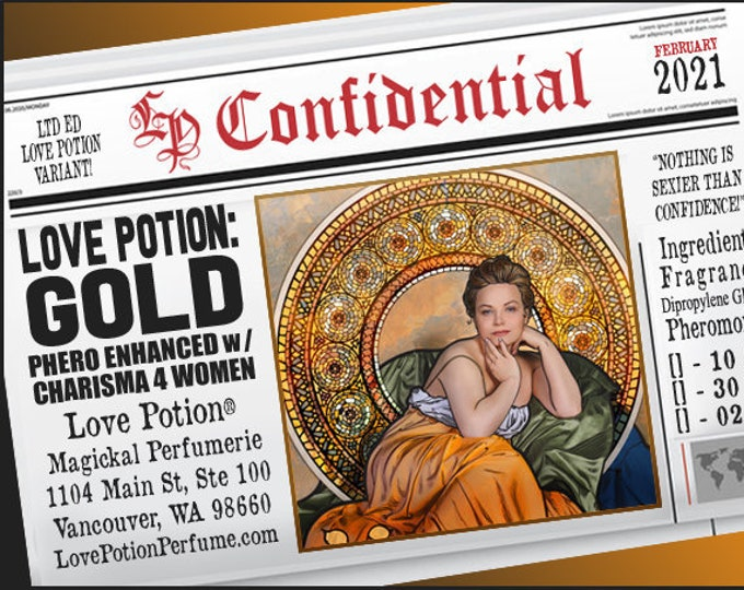 Love Potion: Gold w/ Charisma for Women ~ Pherotine 2021 ~ Phero Enhanced Fragrance for Women - Love Potion Magickal Perfumerie