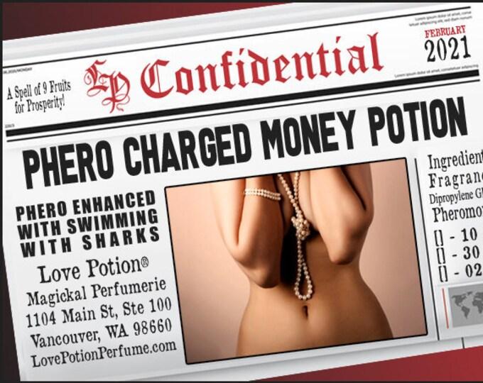 Phero-Charged Money Potion w/ Swimming with Sharks ~ Pherotine 2021 ~ Phero Enhanced Fragrance for Women - Love Potion Magickal Perfumerie