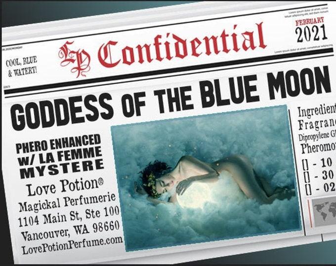 Goddess of the Blue Moon w/ La Femme Mystere ~ Pherotine 2021 ~ Phero Enhanced Fragrance for Women - Love Potion Magickal Perfumerie