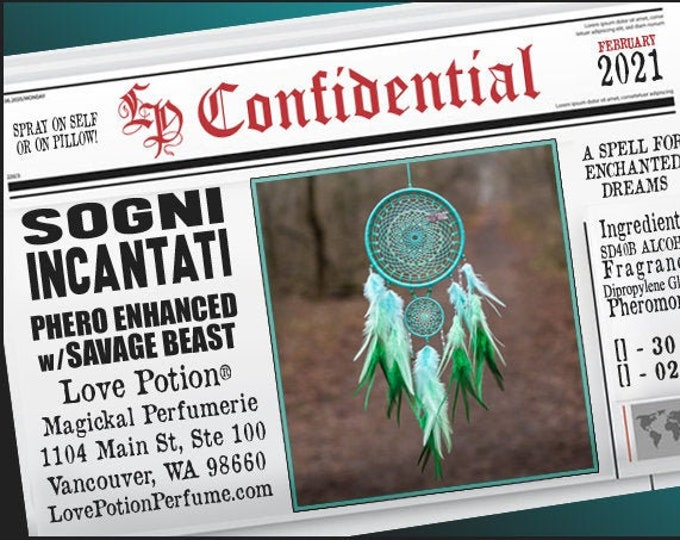Sogni Incantati w/ Savage Beast (Spray) ~ Pherotine 2021 ~ Phero Enhanced Fragrance for Everyone - Love Potion Magickal Perfumerie