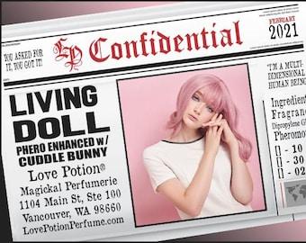 Living Doll w/ Cuddle Bunny ~ Pherotine 2021 ~ Phero Enhanced Fragrance for Women - Love Potion Magickal Perfumerie