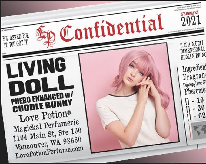 Living Doll w/ Cuddle Bunny ~ Pherotine 2021 ~ Phero Enhanced Fragrance for Women - Love Potion Magickal Perfumerie
