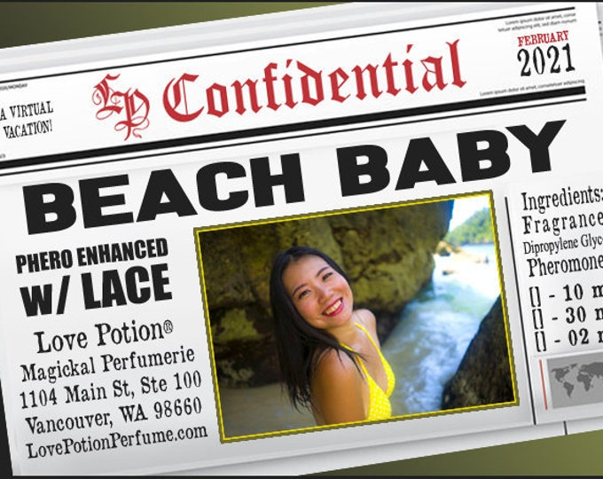 Beach Baby w/ Lace ~ Pherotine 2021 ~ Phero Enhanced Fragrance for Women - Love Potion Magickal Perfumerie