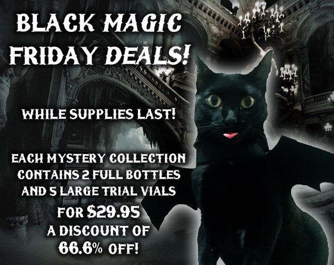 Black Magic Friday Specials! 66.6% off Perfume Deals! -  Love Potion Magickal Perfumerie