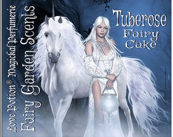 Fairy Cake: Tuberose - Sweet & Youthful Layerable Perfume - Love Potion Magickal Perfumerie