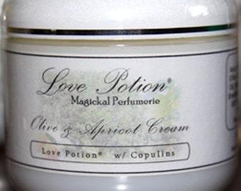 Love Potion Perfumed Olive and Apricot Cream w/ Copulins - 4 fl.oz. - Love Potion Magickal Perfumerie