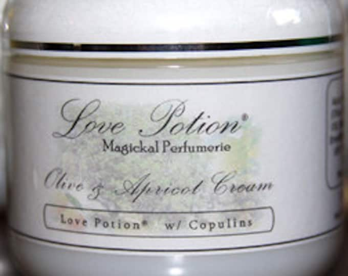 Love Potion Perfumed Olive and Apricot Cream w/ Copulins - 4 fl.oz. - Love Potion Magickal Perfumerie