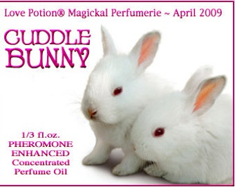 Cuddle Bunny Perfume w/ Cuddle Bunny Phero Blend - Pheromone Enhanced Perfume for Women - Love Potion Magickal Perfumerie