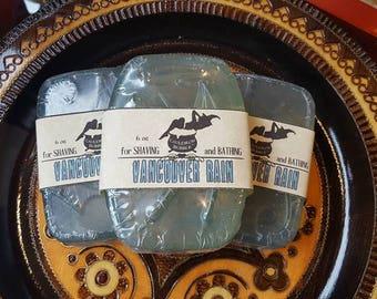 Vancouver Rain - Glycerin Shaving Soap Bar - Love Potion Magickal Perfumerie