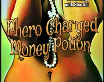Phero Charged Money Potion w/ Swimming with Sharks - Pheromone Enhanced Perfume for Women - Love Potion Magickal Perfumerie - Pherotine 2018
