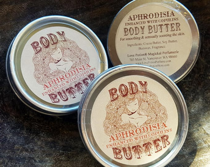 BODY BUTTER - Aphrodisia, Love Potion, or Resinate - Copulin Enhanced Semi Solid Perfume - Love Potion Magickal Perfumerie