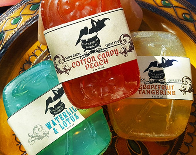 Choice of Scents! - Handcrafted Vegan Glycerin Aloe Soap - Love Potion Magickal Perfumerie