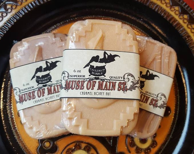 Muse of Main St - Goat Milk Infused Bar Soap - Caramel Honey Nut - Love Potion Magickal Perfumerie